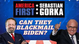 Can they blackmail Biden? Rudy Giuliani with Sebastian Gorka on AMERICA First