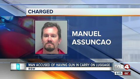 Man carried gun in luggage at airport