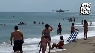 'Oh, sh—!' New video of WWII plane crash off Florida beach