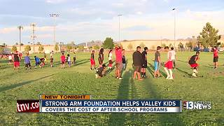 Strong A.R.M Foundation helps kids