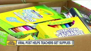 Viral Facebook post helping Tampa Bay area teachers get school supplies for the new year - Video