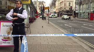 Central London building evacuated due to suspicious package - Video