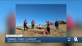 Volunteers clean up Himmel Park