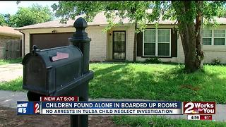 Children found alone in boarded up rooms - Video