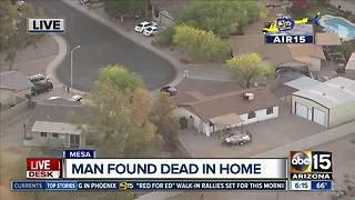 Man found dead in Mesa home - Video