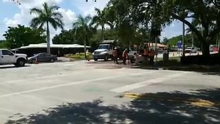 Water main break in Fort Myers