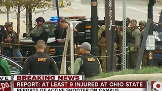Ohio State active shooter situation began after fire alarm, initial reports indicate - Video