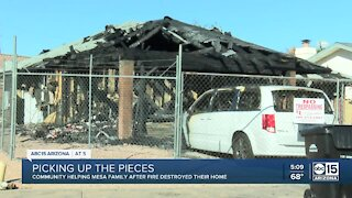 Mesa family in need after losing everything in New Year's Eve fire