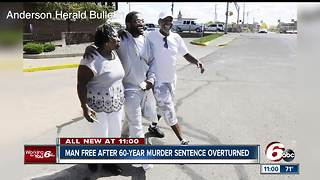 Man free after 60-year murder sentence overturned - Video