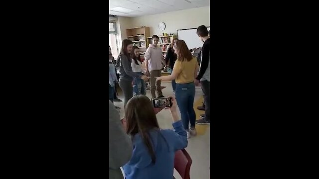 Class gets mega shocked through electricity chain
