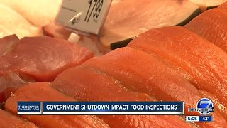 Government shutdown impacts food inspections
