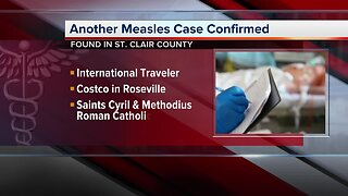 Another measles case confirmed in St. Clair County