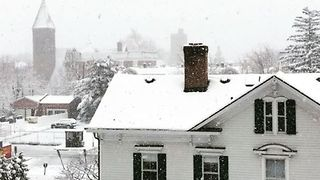 Spring Snow Falls Across Northern New Jersey - Video