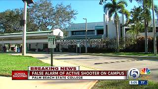 False alarm of acive shooter on campus