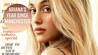 Ariana Grande is blonde & bare in Vogue - Video
