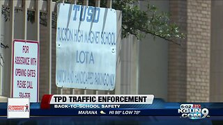 Back to School traffic enforcement at Tucson High