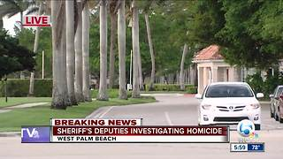 Palm Beach County Sheriff's Office investigating homicide