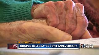 Las Vegas Couple celebrates 75 years of marriage