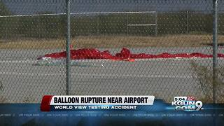 Balloon ruptures following test at World View - Video