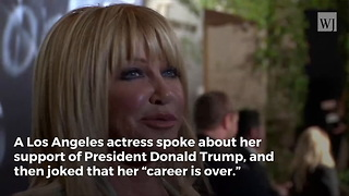 Suzanne Somers Comes out in Support of Trump, Laughs 'Now My Career Is Over' - Video