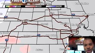 Tracking light rain & snow - Video