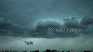 Intense Winnipeg thunderstorm captured in time-lapse video