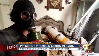 President promises action in Syria