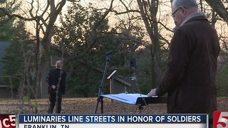 Luminaries Lit To Honor Battle Of Franklin Soldiers - Video