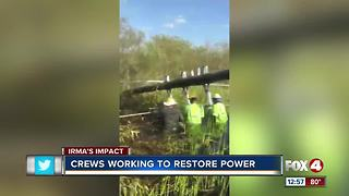 Crews Working Hard to Restore Power - Video