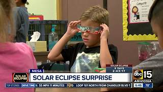 Students raise money so classmates can have special glasses to watch the eclipse - Video