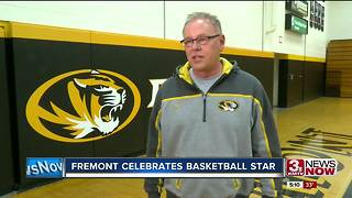 Fremont celebrates basketball star