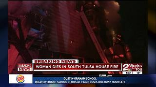 Woman killed in South Tulsa house fire - Video