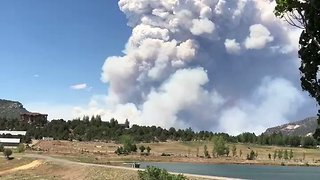 416 Fire Covers More Than 8,500 Acres Near Durango, Colorado - Video