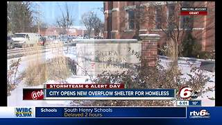 Indianapolis announces the opening of an overflow shelter to help homeless during bitter cold snap - Video