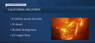 California wildfire numbers update