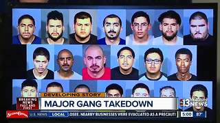 Major gang takedown announced by local law enforcement - Video