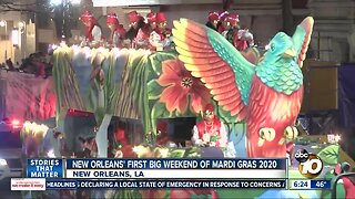 New Orleans' first big weekend on Mardi Gras