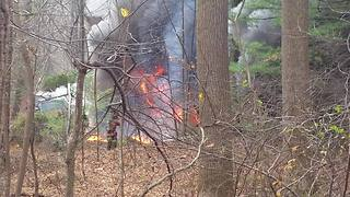 Crews respond to a 2-alarm house fire in Baltimore County - Video