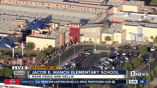 Chopper 13 above Jacob Manch Elementary School - Video