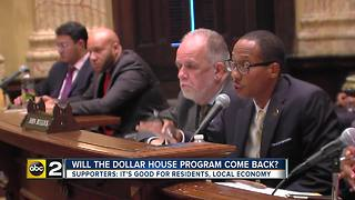 Residents on board with bringing back Dollar House Program - Video