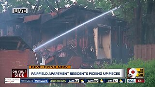 Fairfield apartment residents displaced after fire
