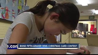 Fifth-grader wins Christmas Card Contest - Video