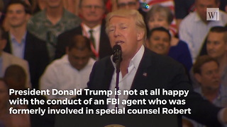 President Trump: FBI Agent Working on Russia Investigation Committed 'Treasonous Act' - Video