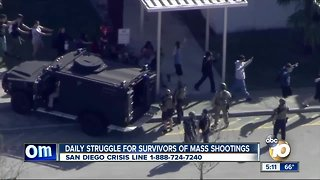 Struggle for survivors of mass shooting