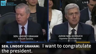 Lindsey Graham Congratulates Trump For Getting Something Right - Video