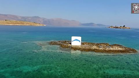 3-minute vacation: Drone view of Picturesque Galaxidi sailing paradise in Greece
