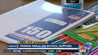 Finding deals on school supplies