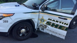 Martin County deputies injured when cruiser rammed