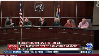 Boulder City Council moving forward with 'assault' weapon ban - Video