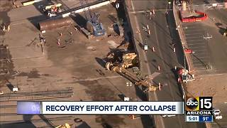 Recovery effort underway after drilling rig topples near Sky Harbor - Video